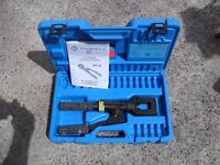 Cembre HT51 dual speed, hand hydraulic crimper, crimping tool & case.