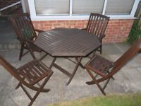Garden set table and 4 chairs bistro patio