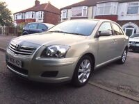 2006 TOYOTA AVENSIS 5DR-1.8-PETROL-FACELIFT,65000 LOW MILES,FULL SERVICE HISTORY,3KEYS,HPI CLEAR