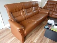Ekornes Stressless LEON model Leather 3 seater sofa