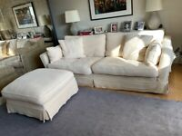 Sofa Workshop 4 seater sofa Caruso and foot stool