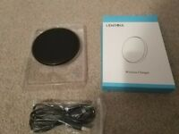 Brand new Wireless Charger, 5W iPhone 8 Charging Pad with Leather Covering and Metal base