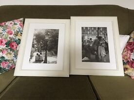2 X Beautiful vintage Parisian pictures in frames.