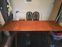 1950s extending wooden dining table