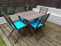 B&Q Wooden Garden Table and Chairs