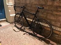 Raleigh Mens Bike Black Racer Road Bike