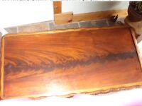 Solid wood quality reproduction coffee table,beautiful grain pattern on top