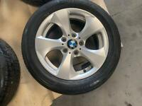 Set of BMW alloys and Tyres
