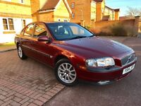 VOLVO S80 FACELIFT 2001 64K ONLY LOW MILEAGE LEATHER SEATS FULL SERVICE HISTORY BEAUTIFUL EXAMPLE