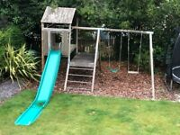 TP Sherwood Climbing Frame Tower with swings and slide