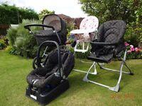 Mamas and Papas Primo Viaggio Pram and Travel System plus Toys-r-Us High Chair