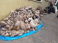 FREE Rubble Stone Hardcore Bricks Concrete Wheels Tyres Metal Wooden & Glass Doors Old Fence Panels