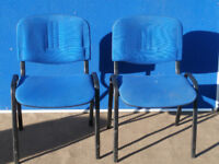 2 Blue chairs good quality (Delivery)