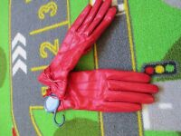 Ladies red NEXT leather gloves