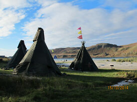 GUMBO OFF GRID 4 METRE 6 METRE 8 METRE FIREPROOF TIPI WIGWAM YURT MAY BE LEFT UP ALL YEAR ROUND