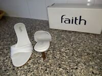 White FAITH Heels