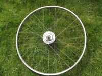 Vintage 27 x 1 1/4 Race / Road Bike Front Wheel With Sturmey Archer Dyno Hub