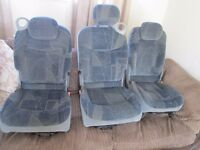 3 REAR RENAULT SCENIC SEATS
