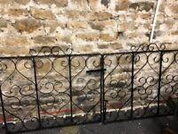 Heavy Duty Wrought Iron Drive or Garden Gates - Black
