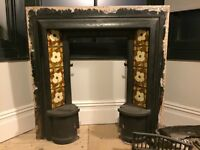Tiled Victorian fireplace