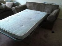 Three Seater Fabric Sofabed (Reduced)