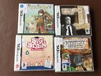 Nintendo DS games and a Wii game