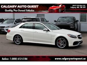 2014 Mercedes-Benz E-Class E63 AMG S-Model 4MATIC AWD/MATTE WHIT
