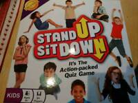 New unused BNIB game - stand up sit down