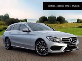 Mercedes-Benz C Class C 220 D 4MATIC AMG LINE PREMIUM (silver) 2017-09-01