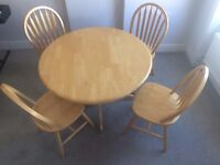 Table and 4 chairs for sale in West Kensington £50 ONO