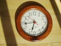 Solid Wood Quartz Clock - Great for Kitchen or Office or Bedroom
