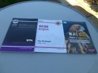 CGP GCSE English language and literature complete Revision and practice book plus 2 other books.