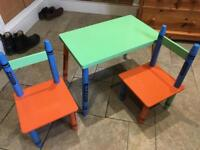 Crayola crayon children's table and chairs