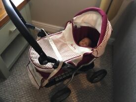 Toy pram, buggy and assessories