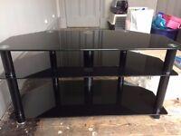 Dark Glass three tier TV stand