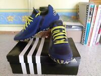 MENS ADIDAS ASTRO FOOTBALL BOOTS/SIZE 9.5,EXCELLENT CONDITION