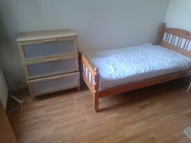 Nice large single room in friendly house close to shops, tube, Westfield, central London.