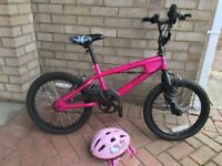 Girl bike great condition with hello kitty helmet