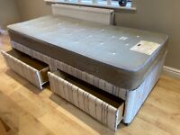 Single Bed - divan with drawers