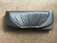 Grey/Silver Clutch Bag
