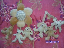 Musical Cot & Crib Teddy Toys