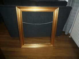 Gold coloured picture frame