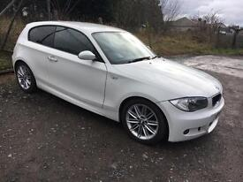*PRICE DROP* BMW 118d M SPORT white 3dr alloy wheels MOT £30 tax