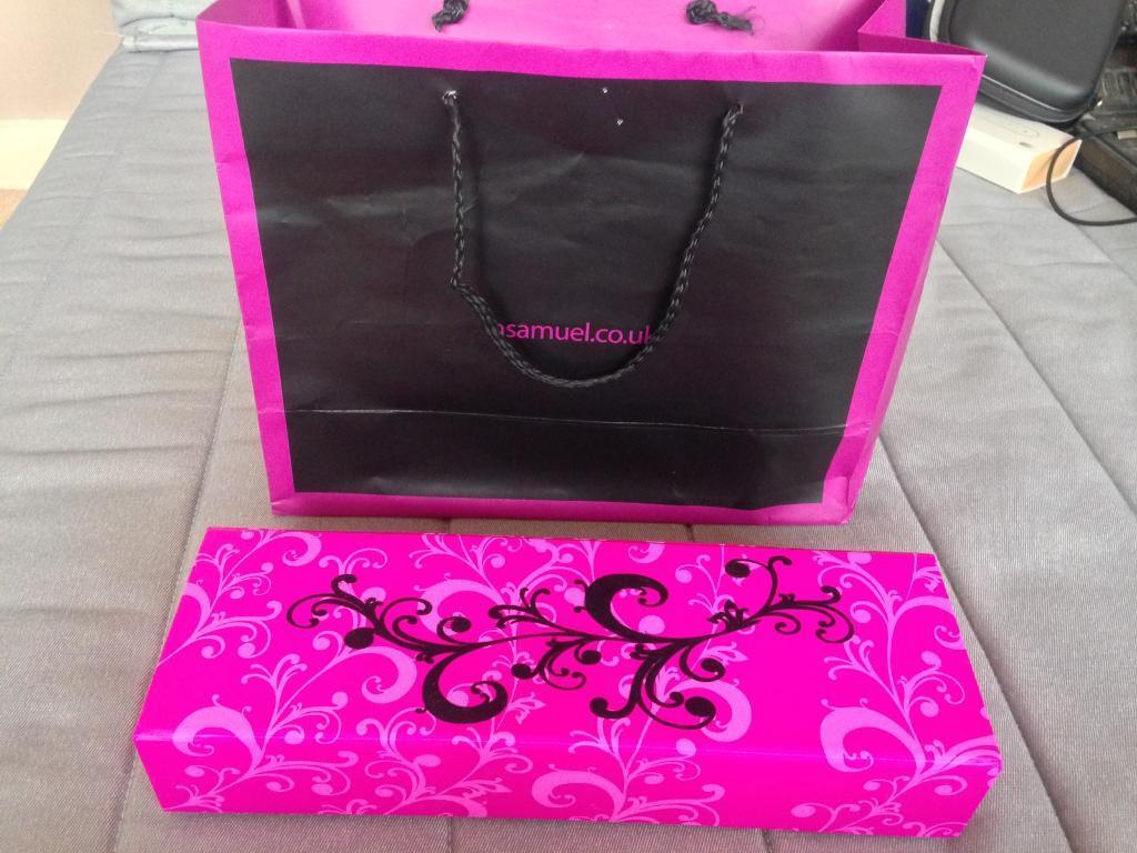 H Samuel gift bag, presentation box incl ring box and necklace ...