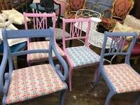 Vintage painted dinning chair ( 1 of 4 )