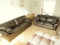 3 seater and 2 seater anoline leather sofas in excellent condition