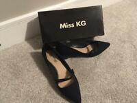 Miss KG navy court shoes; size 39