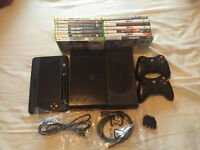 Xbox 360 250gb and 15 games