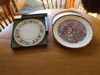 ROYAL WORCESTER AND GIEN (FRANCE) BONE CHINA CAKE PLATES NEW