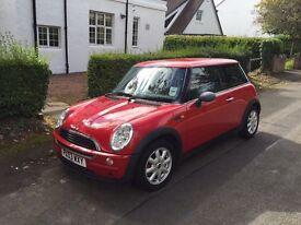 Lovely red Mini sale - full years MOT